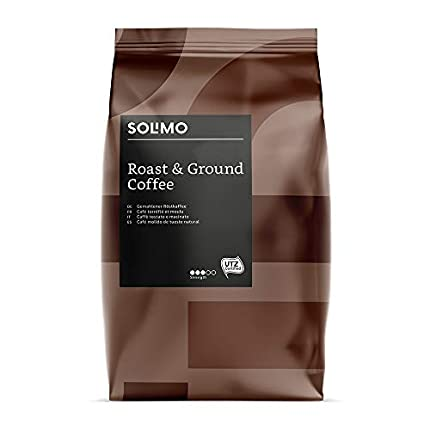Marca Amazon - Solimo Café Molido Compatible con Todos los Usos de Café Molido - 1,36Kg (6 Paquetes x 227g)