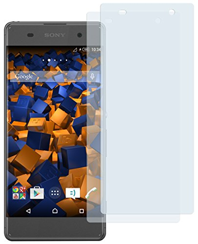 mumbi Schutzfolie kompatibel mit Sony Xperia XA Folie klar, Displayschutzfolie (2x)