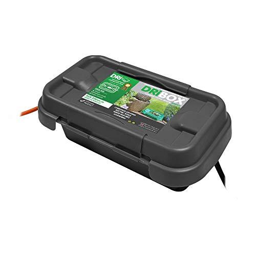 Dri-Box FL-1859-200 Wetterfeste Box Anschlußkasten für elektrische Geräte und Kabeln, IP55, Schwarz
