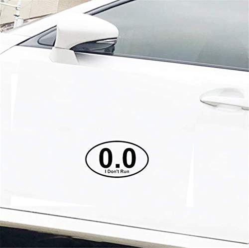 DKISEE I Don'T Run Marathon Personality Ative Autocollant en vinyle 15,2 cm pour rétroviseurs de camion, fenêtre, ordinateur portable