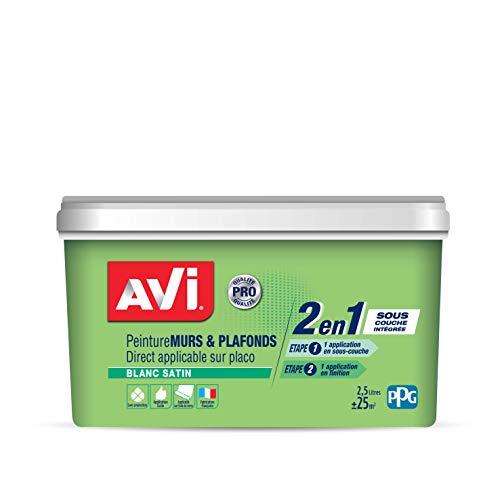 AVI Peinture Murs et Plafonds - Satin - 2,5 L