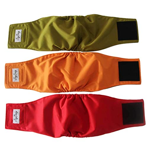 JoyDaog Belly Bands for Male Dogs,3 Pack Washable Dog Diapers...
