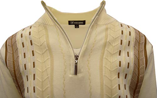 STACY ADAMS Men's Sweater, Vertical Dotted Line