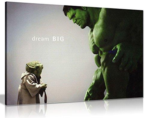Leinwand, Motiv: The Hulk Comic-Bücher,Kunstdruck, A0 91x61cm (36x24in)