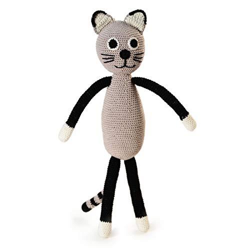 Cat Grey. Jouet au crochet
