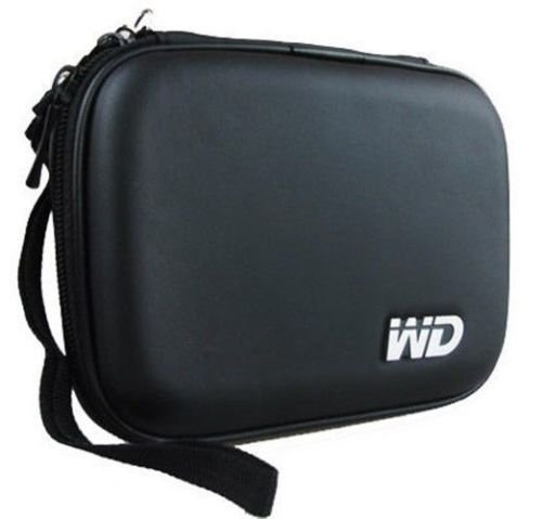 """Gadget Deals Hard Disk Cover/ Hard Disk Drive Pouch case for 2.5"""" HDD Cover WD Seagate Slim Sony Dell Toshiba (Black)"""