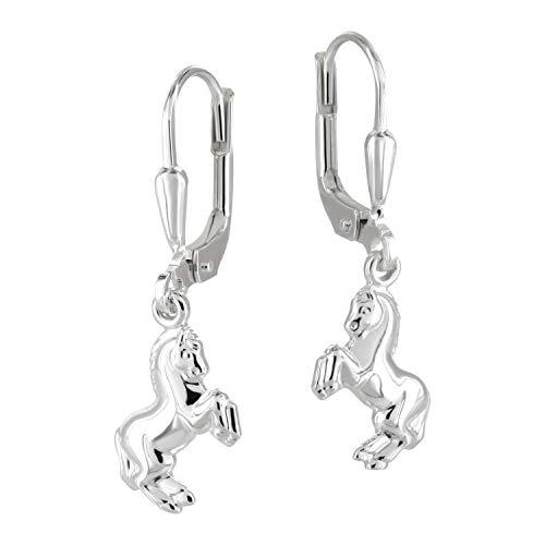 TiwocaR Jewellery Meisjes Oorbel Brisur paard echt zilver 925 inclusief hoogwaardig sieradenetui en gratis polijstdoek