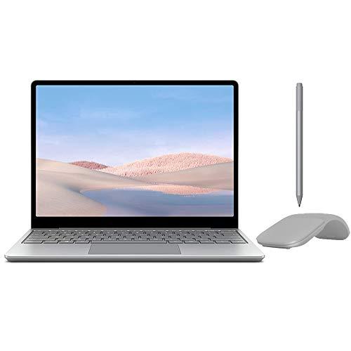 Microsoft Surface Laptop Go 12.4' Touchscreen Laptop PC, Intel Quad-Core i5-1035G1, 4GB RAM, 64GB eMMC, Webcam, Win 10, Bluetooth, Online Class Ready, w/Surface Pen, Arc Mouse - Platinum