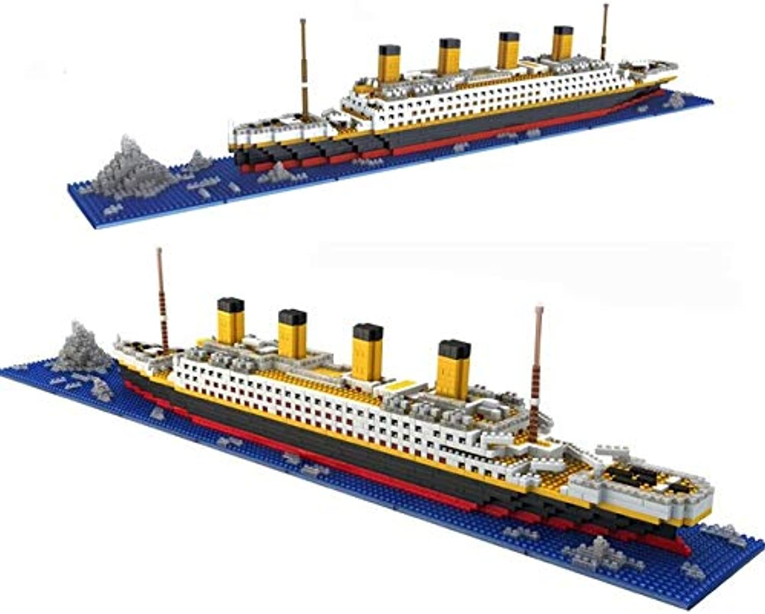 FairOnly 1860pcs Cruise Ship Diamond Particles Titanic Building Bricks Blocks Kit 3D Boat Model Gift Kids Toys Compatible Creator Show