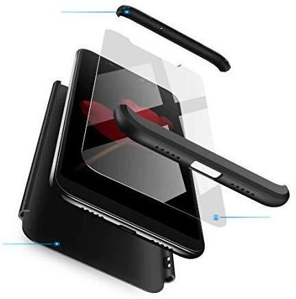 AKC Funda Compatible Samsung Galaxy Note 9 con 360°Todo Incluido Anti-Scratch, con 2 * HD Vidrio Templado Carcasa Case,Ultra Fina 3 en 1 Hard PC Caja Cover Resistente al Desgaste-Negro
