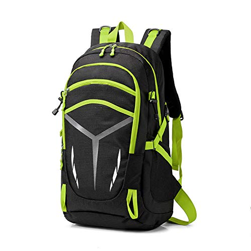 DKLGH Waterproof backpack unisex travel pack sports bag pack Outdoor Mountaineering Hiking Climbing Camping backpack for male-Green