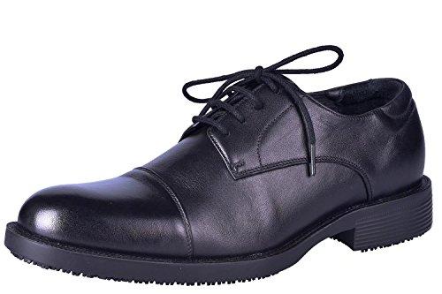 Chaussures de sécurité Cuir de Vachette Pleine Fleur Antidérapant Chaussures de Travail isolantes Hommes Noir Léger Chaussures de Protection 39-48EU