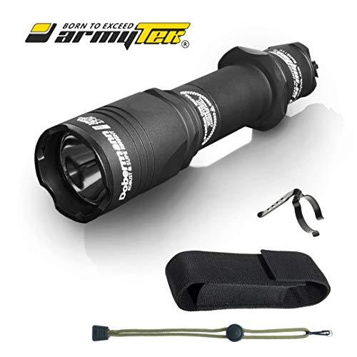 Taktische Taschenlampe Armytek Dobermann Pro XHP35 HI (Kalt) 1700 LED Lumens Langstrecken-Taschenlampe 395 Meter
