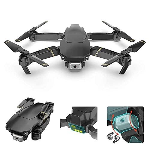 Drone 4k con videocamera Live Video, Quadricottero RC WiFi FPV con videocamera 4k Drone Pieghevole per Principianti - Mantenimento dell'altitudine modalità Senza Testa One Key off/Land
