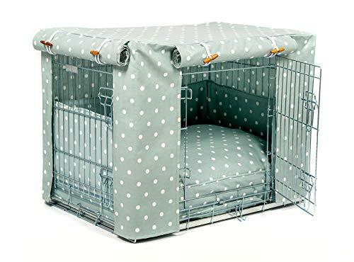 Lords & Labradors Housse de caisse et coussin en toile cirée pour caisse Ellie-Bo (housse de caisse, tour de lit et coussin, extra large 106,7 cm)