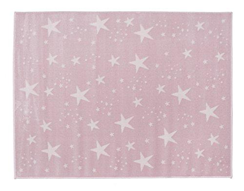 Aratextil Ciel Tapis Enfant, Acrylique, Rose, 120 x 160 cm