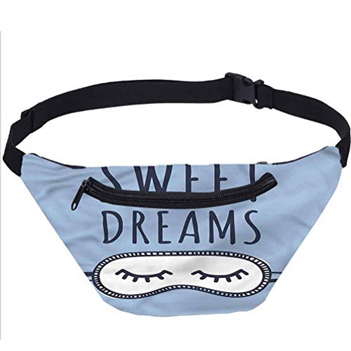 Sweet Dreams Travel Fanny Bag,Sleeping Doodle Waist Pack for Adult Coworker