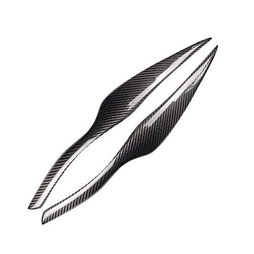 Demarkt Autokoplampenstickers voor BMW E90 E91 4DR 2005-2011 Carbon Decoratie beschermstickers koplampen wenkbrauwen afdekking Decoratie Styling Sticker 1 paar