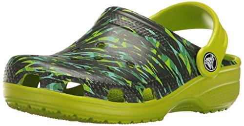 crocs Kids' Classic Graphic K Clog,Volt Green,7 M US Toddler
