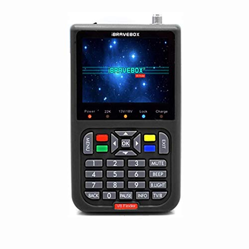 Buscador de satelites digital V8, buscador señal satelite digital profesional localizador satelite satfinder con 3.5 pulgadas LCD