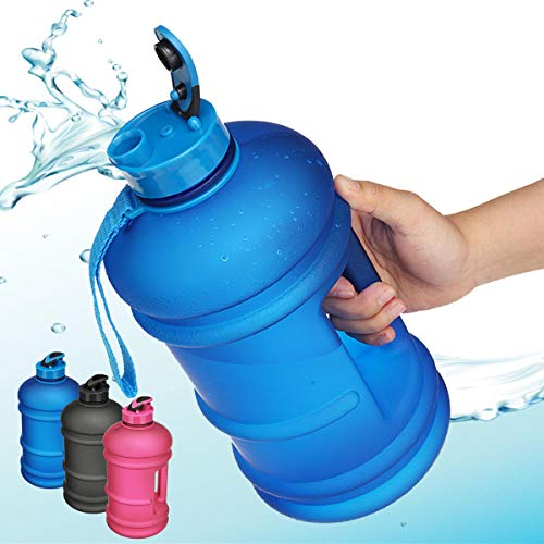 KEMEILIAN Yycj0315 2.2L Afuera Deportes Botella de Agua portátil Fitness Gym Dumbbell Taza de Bebida Caldera Campamento Senderismo Portátil (Color : Blue)