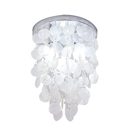INJUICY Crystal Pendant Lights, Modern Shell E12 Led Ceiling...