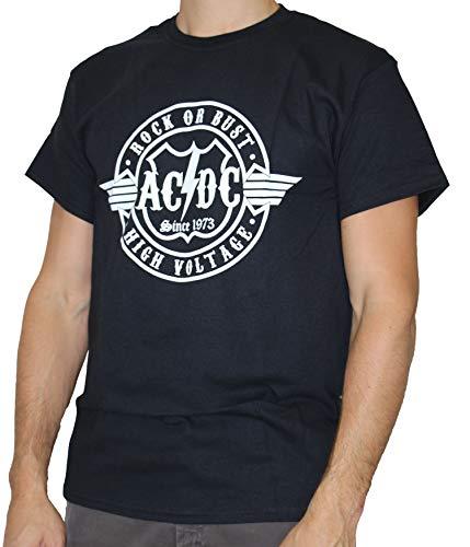 AC/DC T-Shirt Homme Buste Noir Taille M