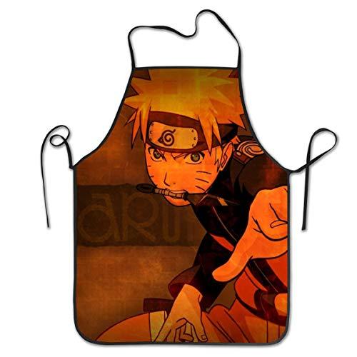 JJKKFG-H Tabliers en polyester pour homme et femme Motif anime Uzumaki Naruto Idéal pour les filles et les filles