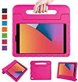 LTROP Case for New iPad 8th / 7th Generation Case, iPad 10.2 Case, iPad Case 10.2-inch Shockproof Light Weight Handle Stand Kids Case for Apple iPad 10.2 2020(8th Gen)/2019 (7th Gen) /Air 3 - Hot Pink