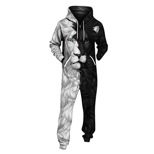 FRAUIT 3D print jumpsuit dames heren capuchon overall printed Onepiece casual feestelijke kleding rompler zacht nachtkleding fitness kleding overall trainingspak