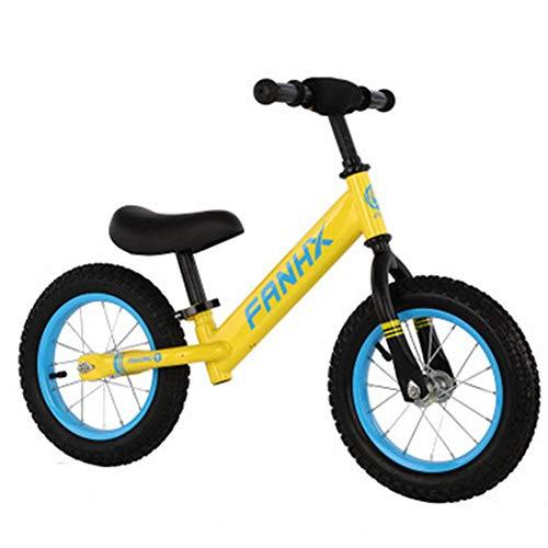 MQYZS Bicicleta Sin Pedales Ultraligera,Bicicleta sin Pedales para niños y niñas | Bici 12-14 Pulgadas a Partir de 3-6 años con Freno