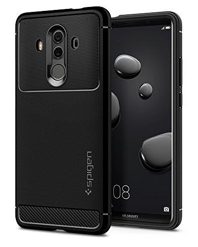 【Spigen】 Huawei Mate10 Pro ケース 対応 TPU 耐衝撃 米軍MIL規格取得 ラギッド・アーマー L19CS22665 (ブラック)