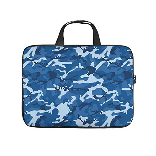 Camouflage Laptop Tote Bag Water Resistant Briefcases for Work/Business/School/College/Travel White 13 Zoll