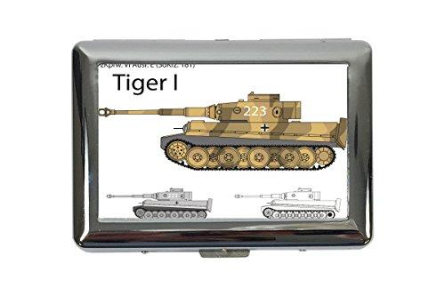 Zigarettenetui Box Retro Motiv Tiger Panzer Bedruckt