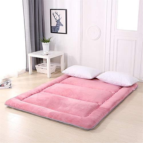 Colchón enrollable Plegable futón colchón for dormir tatami estera del piso portátil espesa el cojín de la estera del piso del colchón for una cama supletoria repuesto o invitado cama plegable almohad