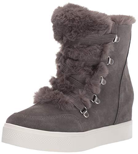 Steve Madden Women's Wharton Sneaker, Grey Suede, 6 M US
