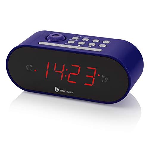 Radio-réveil Smartwares CL-1498 – Double alarme – Radio FM – Projecteur - Noir