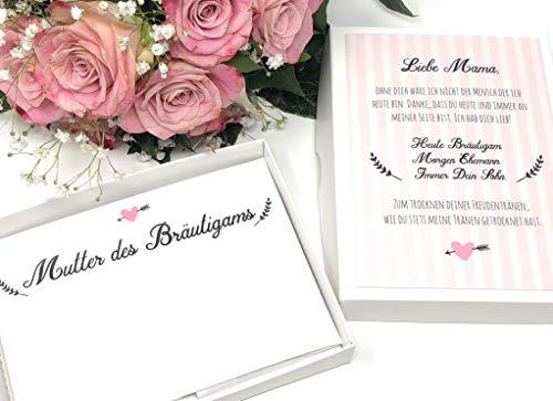 Hochzeit Geschenk Mutter des Bräutigams - Stofftaschentuch für Freudentränen - Geschenk Schwiegermutter