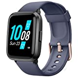 YAMAY Smart Watch 2020 Version, Fitness Tracker Blood Pressure & Blood Oxygen Monitor Heart Rate Monitor Sleep Tracker, Smartwatch Compatible with iPhone Samsung Android Phones, Watch for Men (Blue)