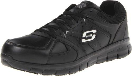 Skechers for Work Men's Synergy-Flex Gripper Work Boot,Black,7.5 M US