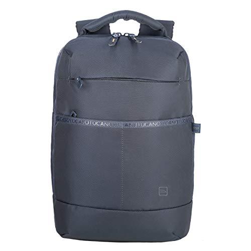 Tucano - Astra Backpack Backpack, Zaino Viaggio Porta Pc Compatibile con MacBook PRO 16' e Laptop 15.6', in Poliestere Riciclato. Imbottito e Protettivo con Anti Shock System