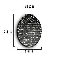化粧鏡 コンパクトミラー 公式&ブラック 手鏡 携帯ミラー 折りたたみ鏡 拡大鏡 両面ミラー