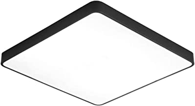Ultra-Thin Square LED Ceiling Lights-Minimalist Indoor Lighting Flush Mount Fixture Ceiling Lamp Black