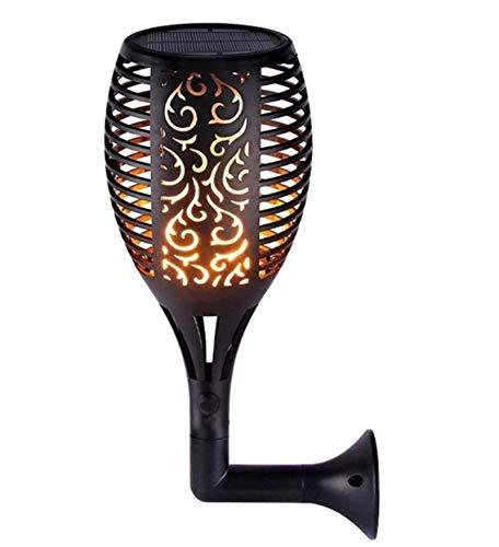 GYC Lámpara de césped para Valla de decoración de jardín para el hogar, luz de antorcha Solar, 1pc 96 LED Lámpara de Llama Parpadeante Impermeable para Exteriores - Pasarela 96led