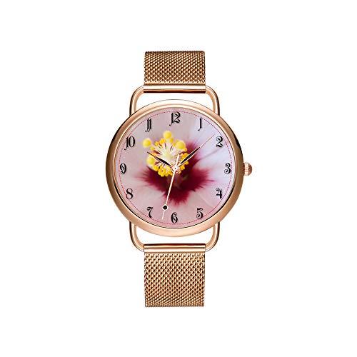Frauen Uhren Marke Damen Mesh Gürtel ultradünne Uhr wasserdichte Uhr Quarzuhr Weihnachten Fahrrad Zitat Das Leben ist eine schöne Fahrt Armbanduhr