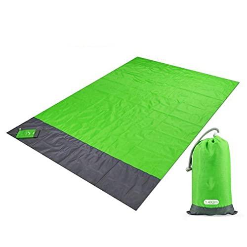Manta de picnic, Matón de camping Manta de playa a prueba de camping Picnic portátil para exteriores Colchón de estera de tierra al aire libre Camping de picnic Manta Manta 1.4 * 2m Para acampar al ai