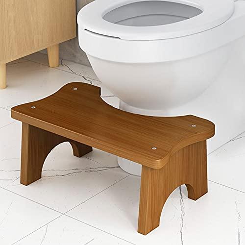 POHOVE Bambus-Toilettenhocker,...