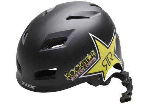 Fox Rockstar TRANSISTION Hard Shell Helm, Unisex, Matte Black