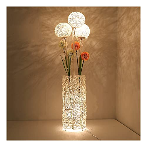 Indoor Vloerlampen voor rotan weven woonkamer verticale slaapkamer warme decoratieve verlichting creatieve rustieke…