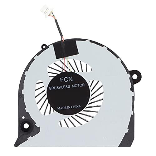 ASHATA Ventilador De Refrigeración De CPU De Repuesto para DELL, Enfriador De CPU con Conector De 4 Pines para DELL Inspiron 15-7577, para 7588, para P72F, para G7-7588